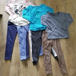 Girls Size 6 Clothing Bundle Tops and Pants